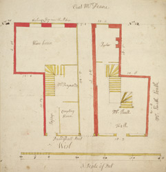 [Plan of property on Basinghall Street] 115B